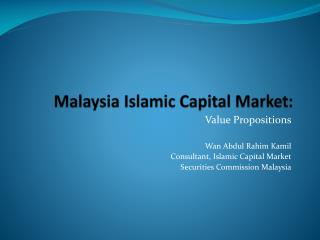 Malaysia Islamic Capital Market: