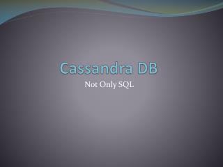 Cassandra DB
