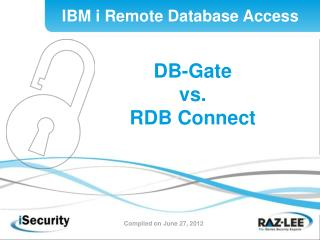 DB-Gate  vs. RDB Connect