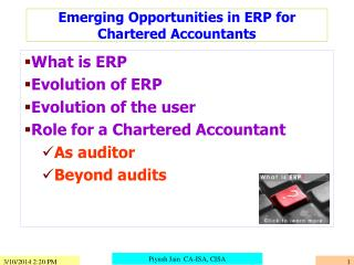 Emerging Opportunities in ERP for Chartered Accountants