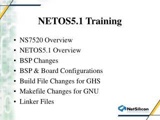 NETOS5.1 Training