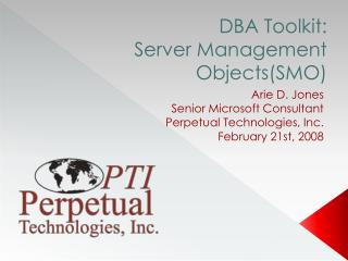 DBA Toolkit:  Server Management Objects(SMO)
