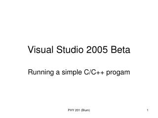 Visual Studio 2005 Beta