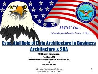 IMSC Inc. Information and Business Fusion  @ Work