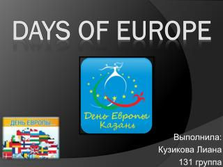 Days of Europe