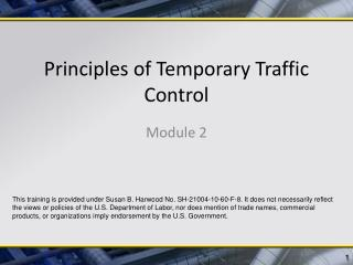 Principles of Temporary Traffic Control