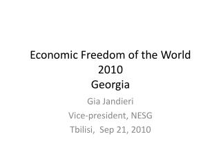 Economic Freedom of the World 2010 Georgia