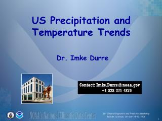 US Precipitation and Temperature Trends
