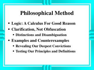 Philosophical Method