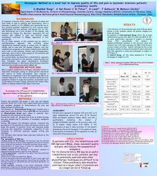 Resseguier Method as a novel tool to improve quality of life and pain in Systemic Sclerosis patients:  preliminary resu