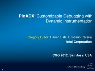 PinADX : Customizable Debugging with Dynamic Instrumentation