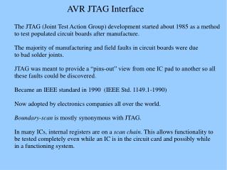 AVR JTAG Interface
