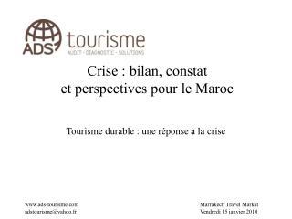 Crise : bilan, constat  et perspectives pour le Maroc