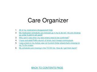 Care Organizer