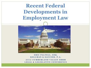 Recent Federal  Developments in Employment Law