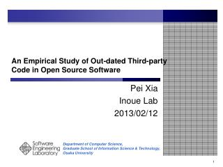 An Empirical Study of  Out-dated  Third-party Code in Open  S ource Software