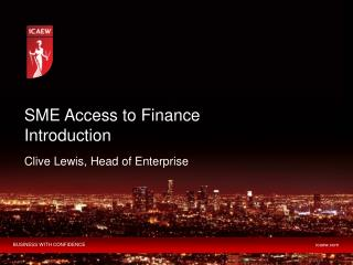 SME Access to Finance Introduction