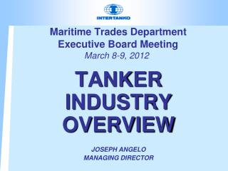 Maritime Trades Department  Executive Board Meeting  March 8-9, 2012