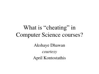 "What is ""cheating"" in  Computer Science courses?"