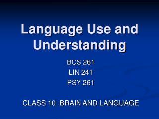 Language Use and Understanding