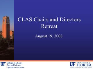 CLAS Chairs and Directors Retreat