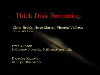 Thick Disk Formation
