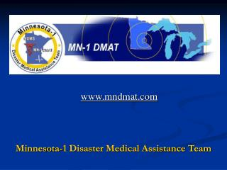 Minnesota-1 Disaster Medical Assistance Team