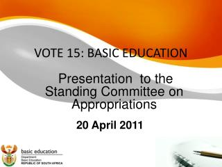 VOTE 15: BASIC EDUCATION