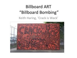 "Billboard ART  ""Billboard Bombing"""