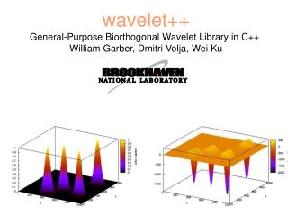 Wavelet General-Purpose Biorthogonal Wavelet Library in C  William Garber, Dmitri Volja, Wei Ku