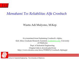 Memahami Tes Reliabilitas Alfa Cronbach