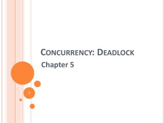 Concurrency: Deadlock