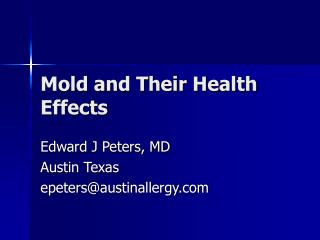 Mold and Their Health Effects