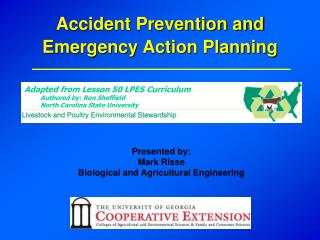 Accident Prevention and Emergency Action Planning