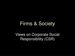 Firms & Society