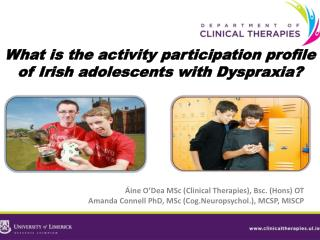 What is the activity participation profile of Irish adolescents with Dyspraxia?