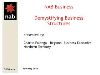 NAB Business Demystifying Business Structures