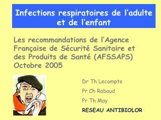 Infections respiratoires de l adulte et de l enfant