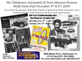 The Tallahassee Automobile  Train Museum Presents Wally ...
