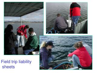 Field trip liability  sheets