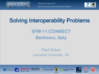 Solving Interoperability Problems