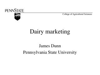 Dairy marketing
