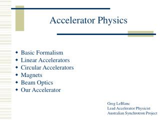 Accelerator Physics