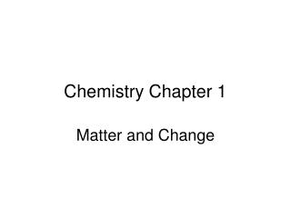 Chemistry 25.3