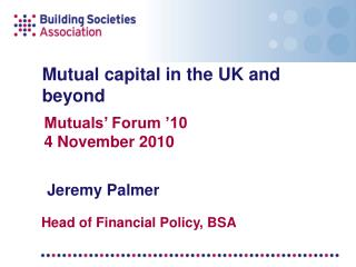 Mutual capital in the UK and beyond