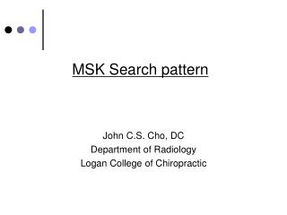 MSK Search pattern
