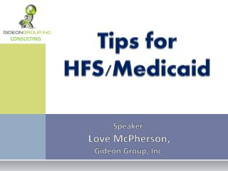 Tips for HFS/Medicaid