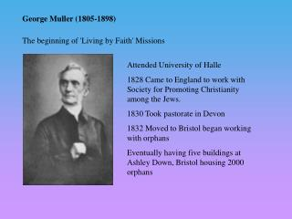 George Muller (1805-1898)
