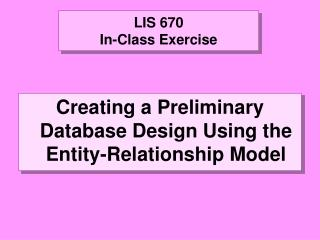 LIS 670 In-Class Exercise