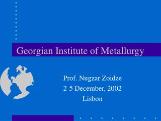 Georgian Institute of Metallurgy